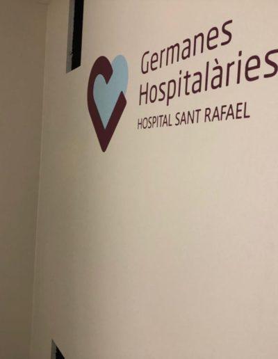 Panel personalizado Germanes Hospitalàries de l'hospital Sant Rafael - Protectwall